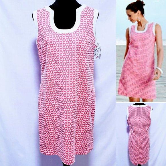 Merona Dresses & Skirts - 💕Merona Collection Eyelet shift dress size 16💕